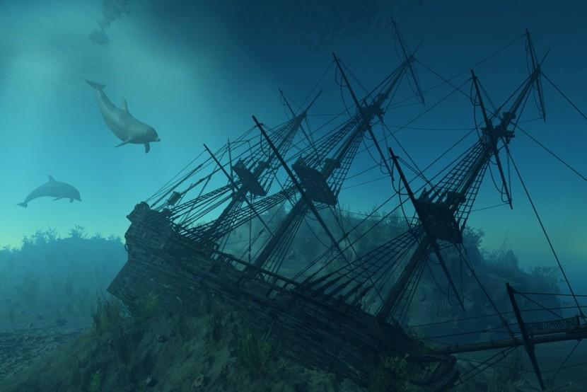 Vrak lodi na dně moře