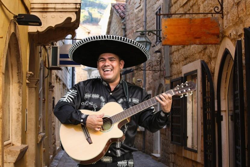 Mexický muzikant mariachi