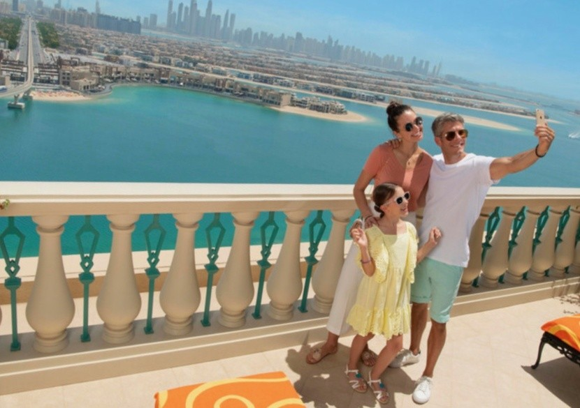 Palm Jumeirah z hotelu Atlantis