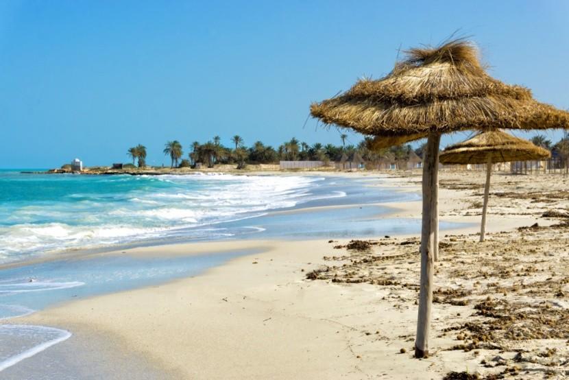 Pláž na ostrově Djerba