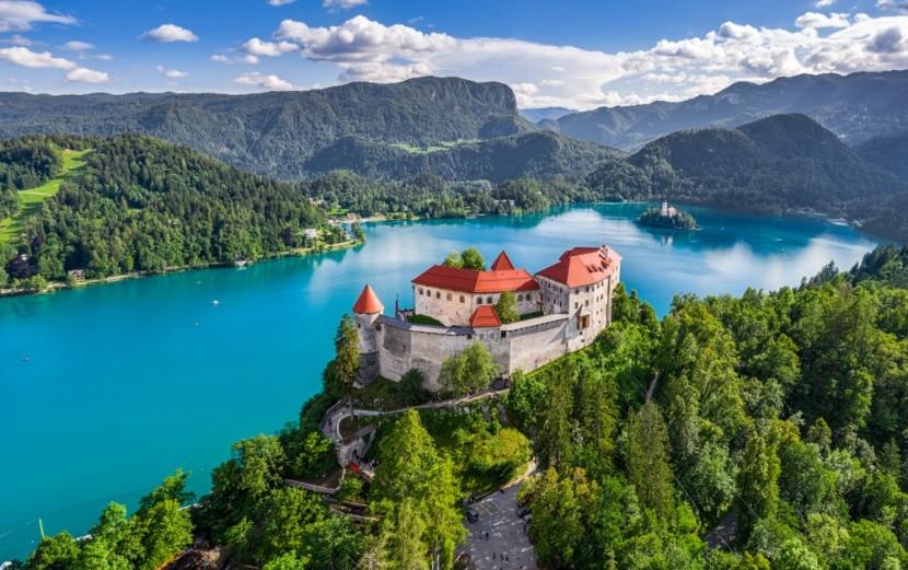 Hrad a jezero Bled, Slovinsko