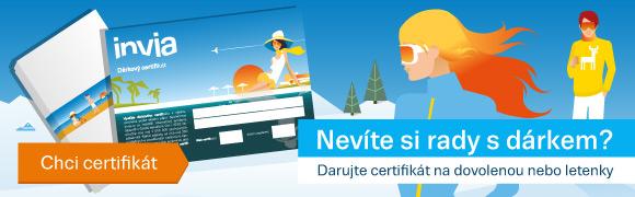 Dárkový poukaz na dovolenou či letenky