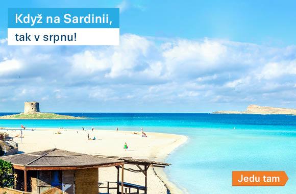 Sardinie v srpnu