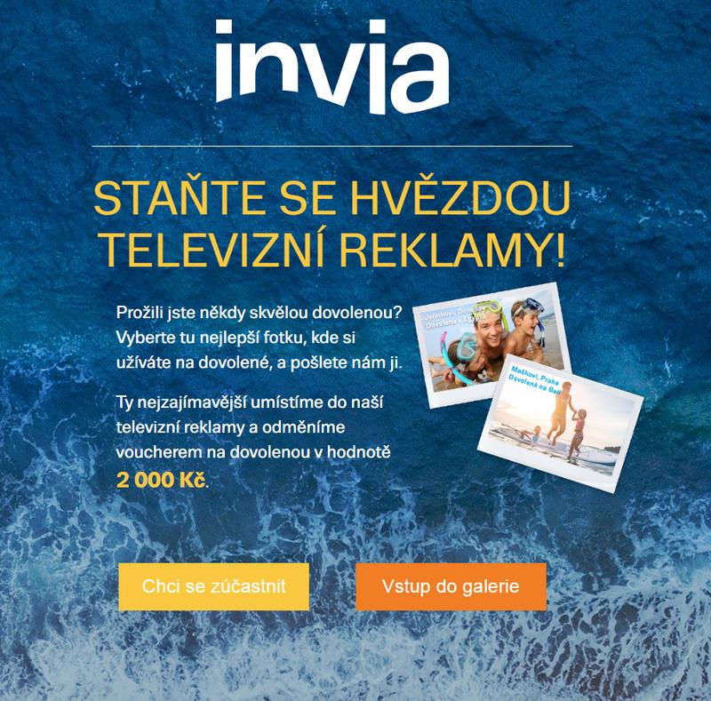 Úvodní stránka webu MojeDovolena.cz