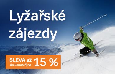 First Minute slevy až 15 % na lyžařské zájezdy